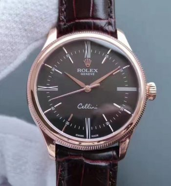 MK Cellini Time 50505 RG Rome Leather Strap A3165