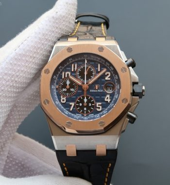 JF Royal Oak Offshore RG Bezel Blue Dial A3126