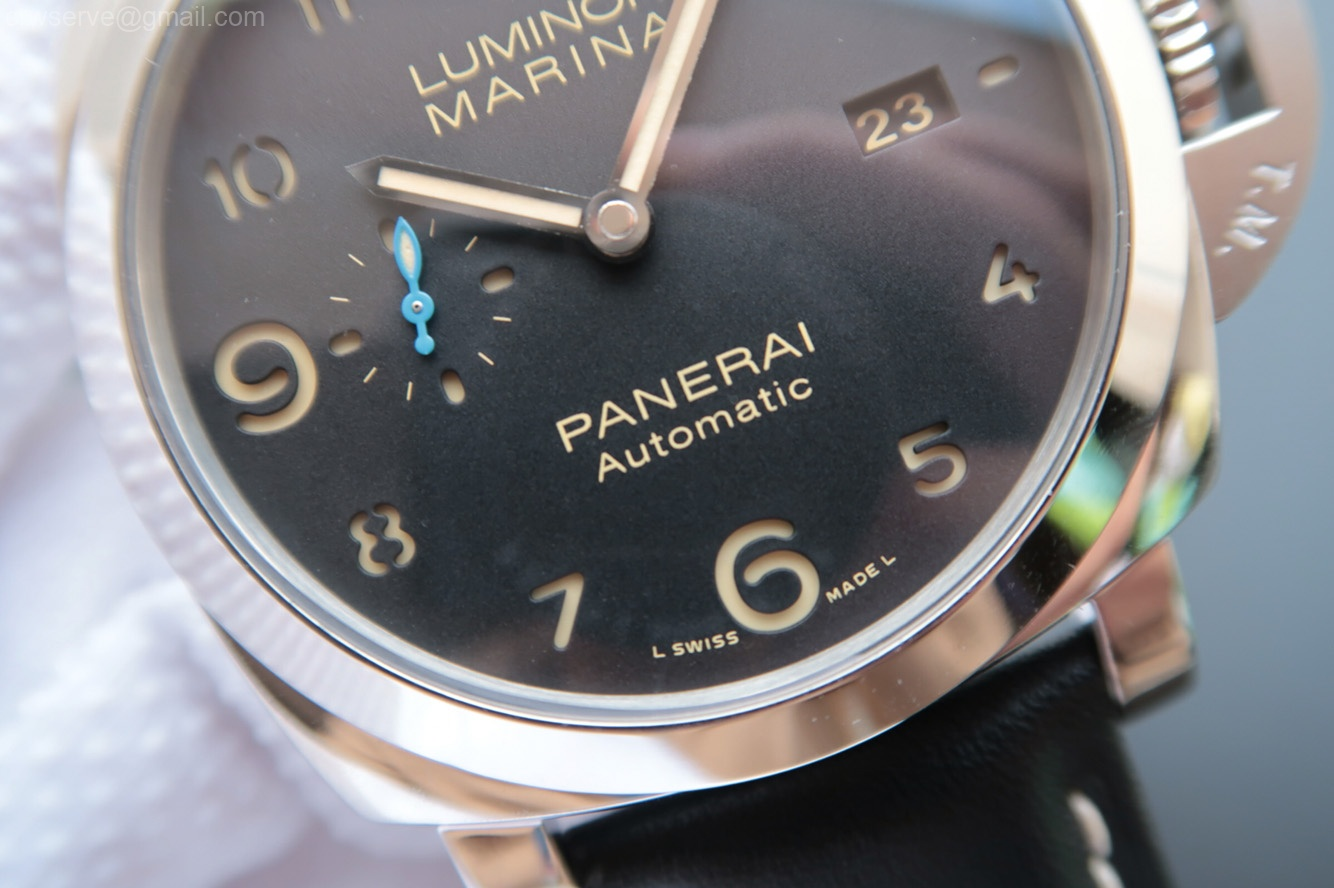 ZF Luminor 1950 PAM1359 Black Dial Leather Strap