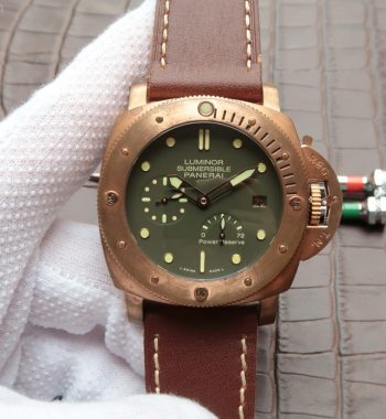 XF PAM507 Bronzo Luminor Submersible Leather Strap A23J