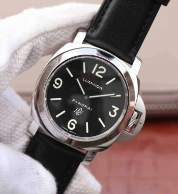 XF PAM000 Black Dial Black Leather Strap A6497