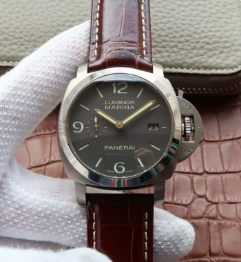 VSF PAM351 Titanium Brown Leather Strap P.9000