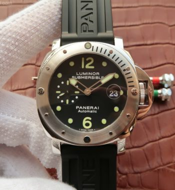 XF PAM024 Black Dial Rubber Strap A7750