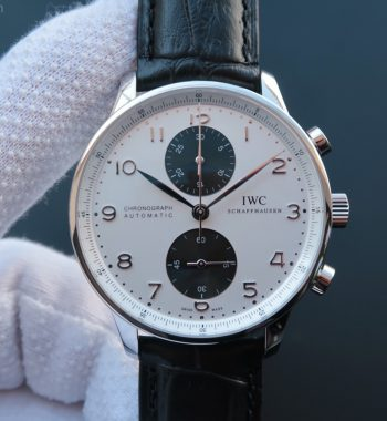 ZF Portuguese Chrono IW371411 Black Leather Strap