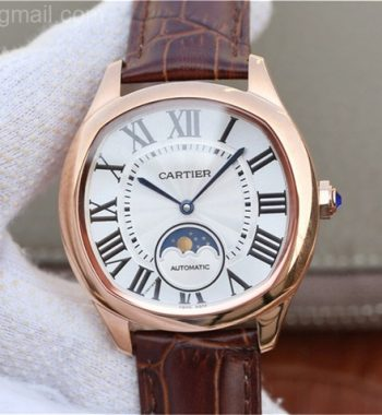 Drive de Cartier RG White Textured Dial Leather Strap A9015