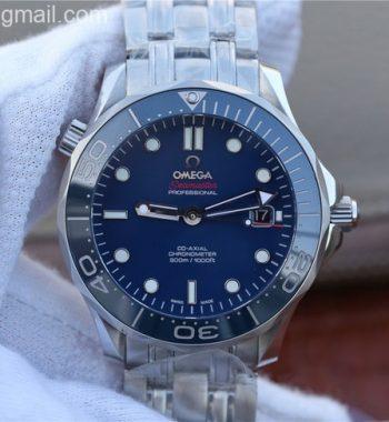 OMF Seamaster 300M Chronometer Blue Dial SS Bracelet A2824
