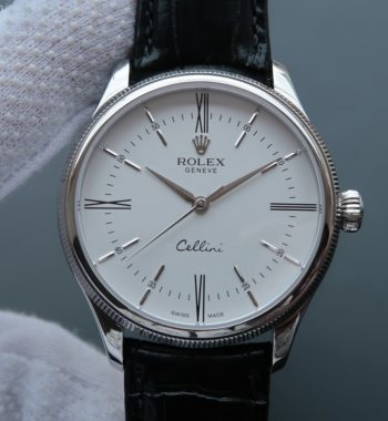 MK Cellini Time 50509 SS White Dial Leather Strap