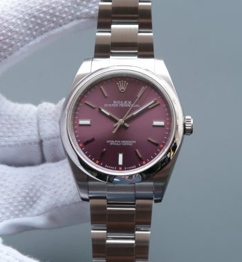 Oyster Perpetual 39mm 114300 Red Grape Dial on SS Bracelet SH3132