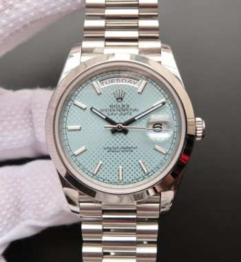 Day-Date 40mm 228206 Noob Textured Ice Blue Dial Bracelet A3255