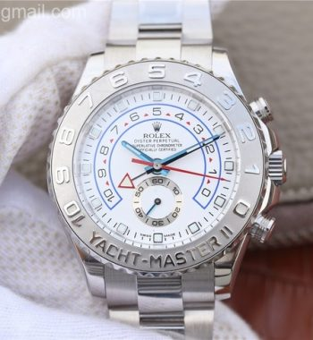 YachtMaster II 116689 SS JF White Dial SS Bracelet A7750