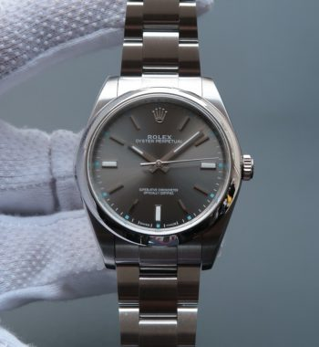 Oyster Perpetual 39mm 114300 JF Gray Dial SS Bracelet SH3132