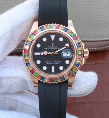 Yacht-Master 40mm 116695SATS Noob Black Rubber Strap A2836