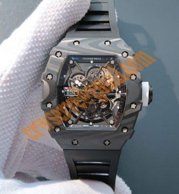 RM035 Rafael Nadal Forge Carbon Titanium Case KVF Skeleton Dial White Rubber Strap MIYOTA8215