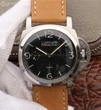 PAM127 Brown Leather Strap Noob A6497 with Y-Incabloc
