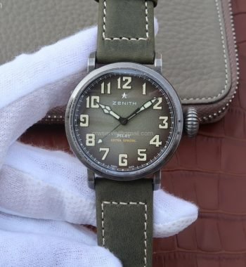 Pilot Type 20 Extra 40mm Aged SS Case Green V6 MIYOTA 9015