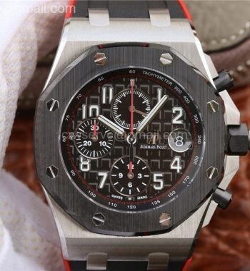 Royal Oak Offshore 2018 SIHH JF Dark Knight Black/Red Rubber Strap A3126