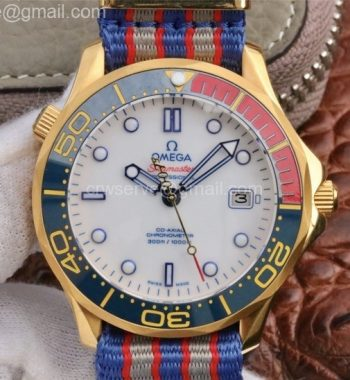 Seamaster Diver 300M YG COMMANDER'S WATCH Limited Edition Nylon Strap A2507