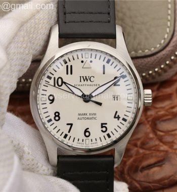 Mark XVIII IW327002 V7F White Dial Black Leather Strap Swiss ETA2892
