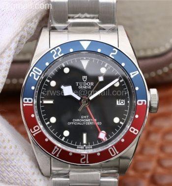 Black Bay GMT Pepsi Blue/Red Bezel TWF SS Bracelet A2836