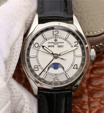FiftySix Complete Calendar SS OXF White Dial Brown Leather Strap A23J