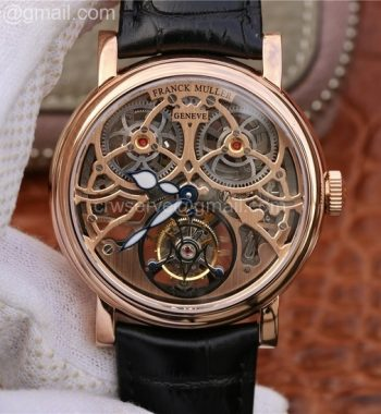 Giga Tourbillon RG Skeleton Dial Brown Leather Strap