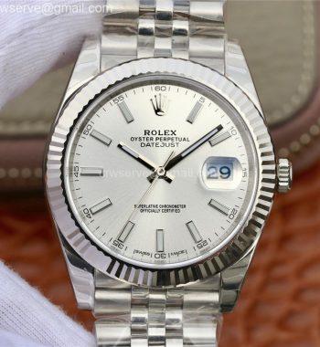 DateJust 41 126334 904L SS DJF Silver Dial Jubilee Bracelet A2836
