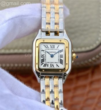 Panthère Secrete Ladies 22mm SS/YG K11 White Dial SS/YG Bracelet Ronda Quartz