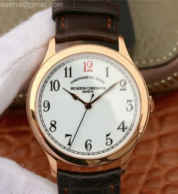 Historiques Chronomètre Royal 1907 RG GSF Best Edition White Dial Red 12 Brown Leather Strap MIYOTA 9015