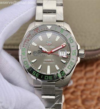 Aquaracer Calibre 5 CSL 43mm SS GSF Edition Gray Dial SS Bracelet A2824