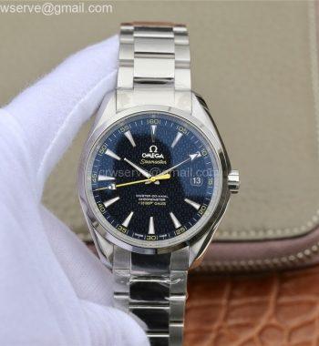 Aqua Terra 15007 Gauss Spectre VSF Edition Blue Textured Dial SS Bracelet A8507 V2