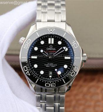 2018 Seamaster Diver 300M OMF Edition Black Ceramic Black Dial SS Bracelet A8800