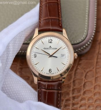 Master Control Date 1542520 RG ZF Edition Silver Dial RG Markers Brown Leather Strap A899