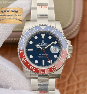 GMT Master II 116719 BLRO Real Ceramic 904L SS GMF Blue Dial Bracelet A3186