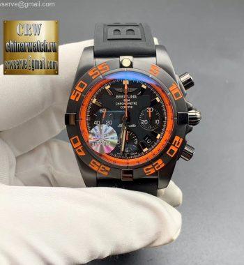Chronomat 44mm Blacksteel Orange GF Edition Black Dial Black Rubber Strap A7750