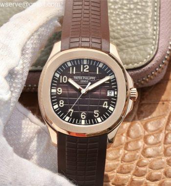 Aquanaut 5167R RG ZF Edition Brown Dial Brown Rubber Strap 324CS
