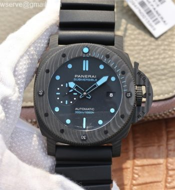 PAM1616 Carbotech 47mm VSF Edition Black Dial Blue Markers Rubber Strap P.9010