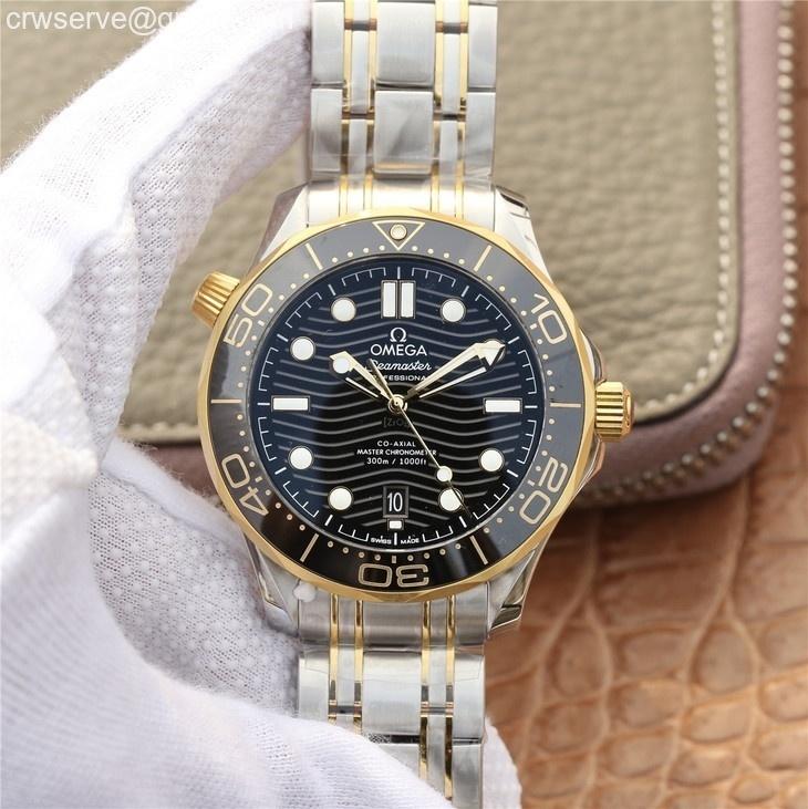 Seamaster Diver 300M SS/YG VSF Edition YG Bezel Black Dial SS/YG Bracelet A8800