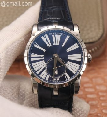 Excalibur 42mm Dbex0535 SS PF Blue Dial Blue Leather Strap A830