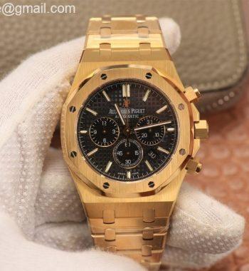 Royal Oak Chrono 26331ST YG OMF Edition Black Dial YG Bracelet A7750