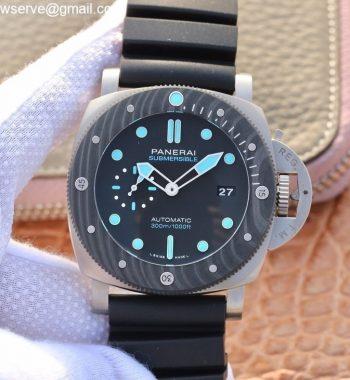 PAM799 Titanium VSF Best Edition Carbotech Bezel Black Dial Rubber Strap P.9010 Clone