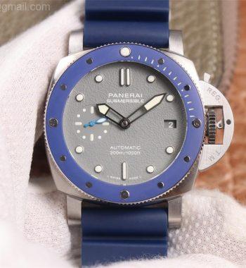 PAM959 42mm VSF Edition Blue Ceramic Bezel Gray Dial Blue Rubber Strap P.9010