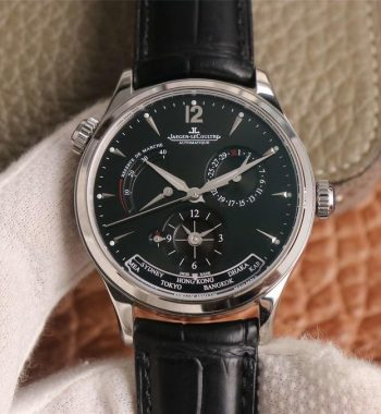 Master Geographic Real PR SS ZF Edition Black Dial Black Leather Strap A939