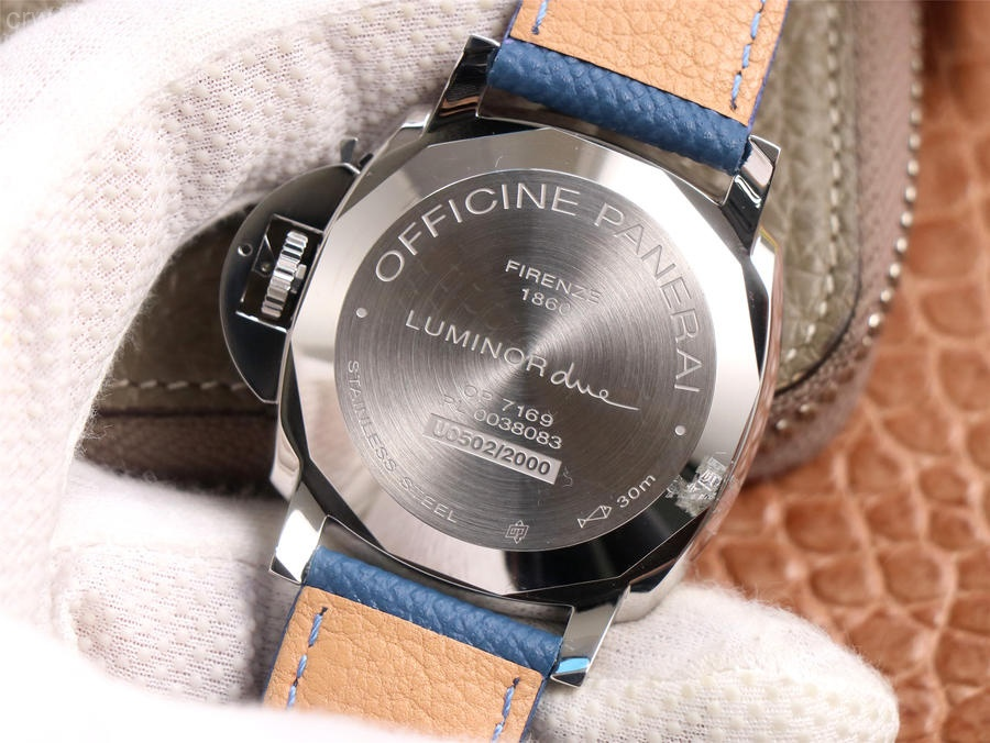 PAM906 Luminor Due VSF Edition White Dial Blue Leather Strap AXXXIV