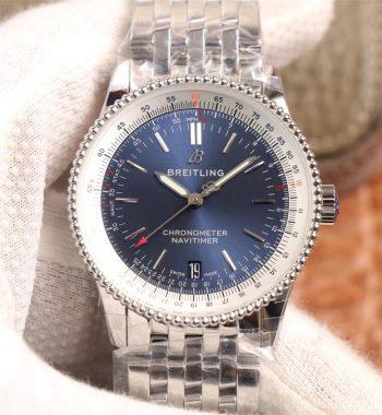 Navitimer 1 38mm SS KOR Edition Blue Dial White Inner Bezel SS Bracelet SW200
