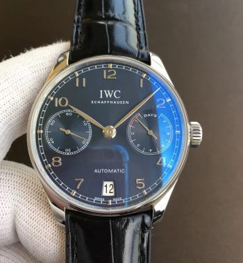 Portuguese Real PR IW500710 ZF Edition Blue Dial Black Leather Strap A52010 V5