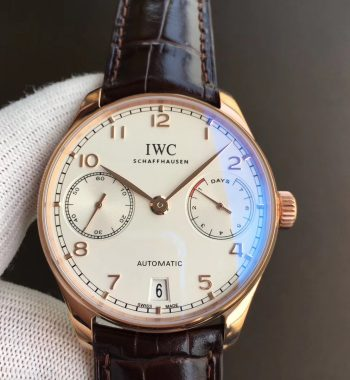 Portuguese IW500701 RG White Dial Leather Strap A52010 ZF V5