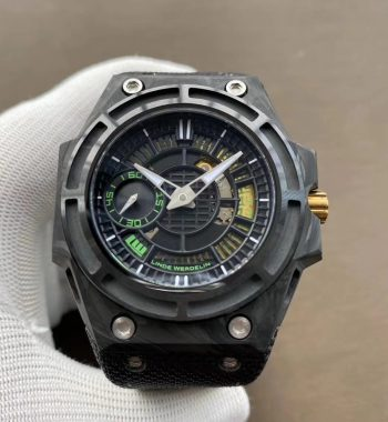 Spidolite II Tech Green Forge Carbon XF Edition Black Nylon Strap A7750