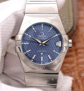 Constellation 38mm SS VSF Edition Blue Textured Dial SS Bracelet A8500 Super Clone