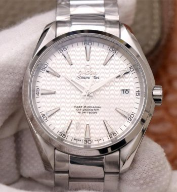 Aqua Terra 150M SS VSF Edition White Wave Textured Dial SS Bracelet A8500 Super Clone