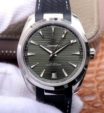 Aqua Terra 150M Master Chronometers VSF Green Dial Black Rubber Strap A8900 Super Clone